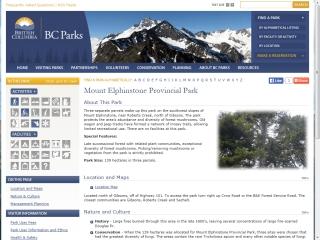 Mount Elphinstone Provincial Park