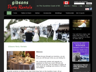 Gibsons Party Rentals
