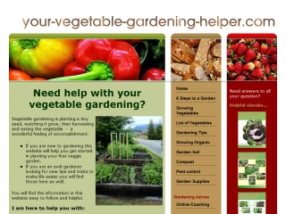 Your Vegetable Gardening Helper
