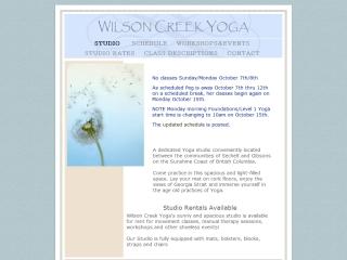 Wilson Creek Yoga