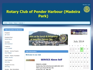 ROTARY CLUB OF PENDER HARBOUR
