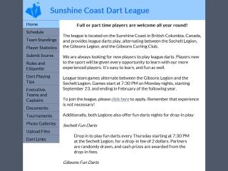 Sunshine Coast Dart League