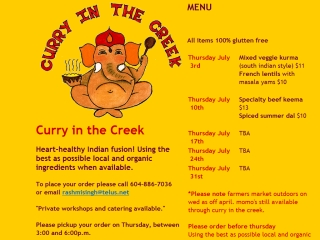 Curry in the Creek