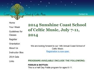 Coast School of Celtic Music