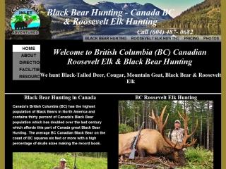 Canadian BC Black Bear & Roosevelt Elk Hunting