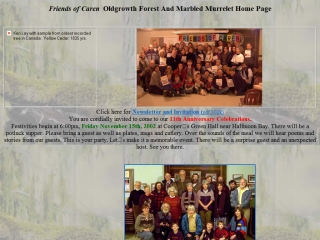 Friends of Caren (Old Growth Forests and Marbled Murrlet)