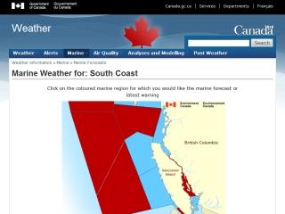Pacific Coast Marine Forecasts