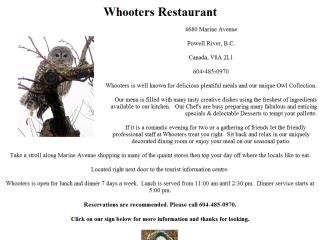 Whooters Restaurant