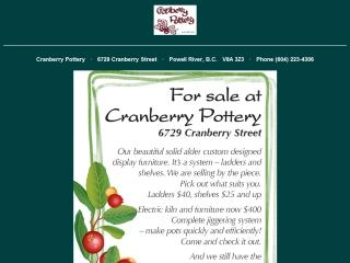 Cranberry Pottery